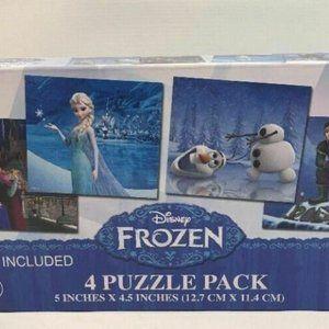 Frozen Elsa & Anna Olaf Jigsaw 4 Puzzle